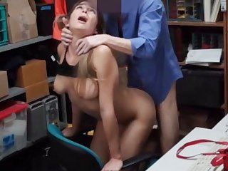 Cute stereotypical chick gets rake over the coals pounded by a pervy cop