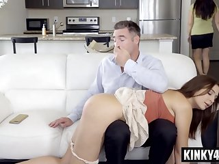 Bad stepdaughter increased by her daddy