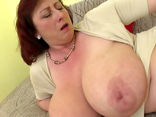 Adult boss mom with big tits with the addition of hungry cunt