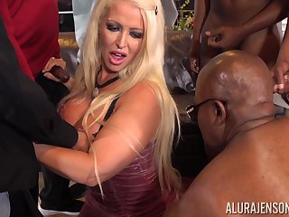 Busty Alura Jenson gang banged by multiple obese black cocks