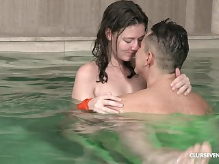 There is nothing better for Alessandra Amore than a making love by the pool