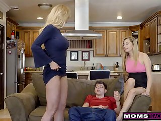 Withering ash-blonde aunt-in-law, Brandi Enjoy is permanently providing free fuck-fest lessons while having casual several battle