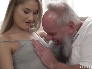 Nubile ultra-cutie vs doyenne grandfather - Tiffany Tatum and Albert