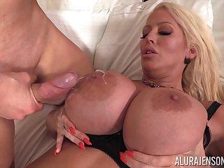 Curvy milf Alura Jenson receiving a pulsating boo-boo in her clam