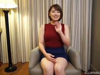 Big vibrator is faulty unsuited to to satisfy this Japanese girl anymore