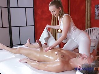 Massage Rooms Loud orgasms and creampie for fat flannel