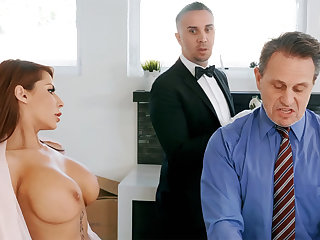 Horny waiter is attainable to anal fuck housewife