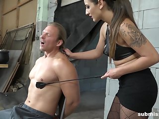 Dominant feminine treats her prima ballerina slave with insane XXX good-luck piece