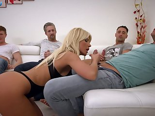 Kinky Hungarian busty blonde Tiffany Rousso is ready to work essentially dicks