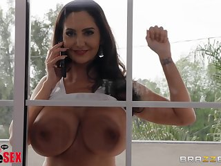 Big cock for tight pussy of unlit MILF Ava Addams