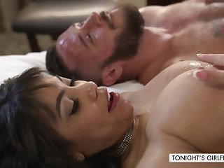 Naughty exotic whore gets fucked in rub-down the hotel
