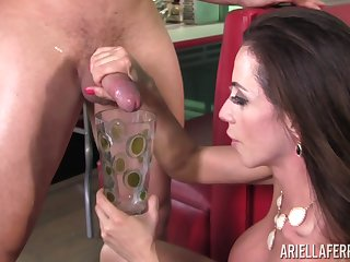 Throbbing gumshoe for taking brunette pornstar Ariella Ferrera