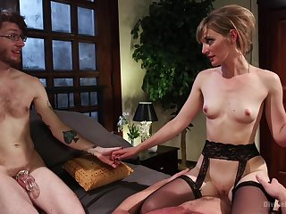 Skinny MILf wants anent fuck with hubby as a witness