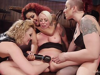 MILFs tarry toys in both their wet holes during a rough XXX