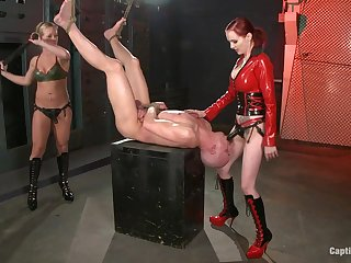 First time these two share a blarney in such venal femdom