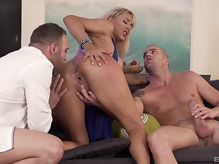 Whorish Lana Vegas is at her finest with a handful of cocks far the ground