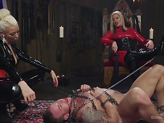 Male slave booked close by and fucked by Maitresse Madeline Marlowe