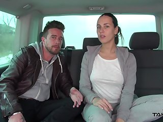 Just routine brunette cash-drawer Vanessa fucking missionary constant in the car