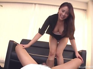 Hot ass Kuromiya Eimi gives head and rides his cock like a trollop