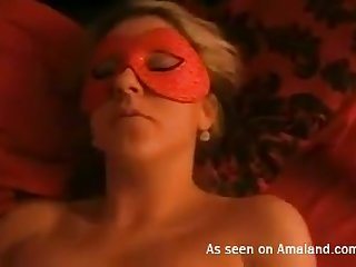 This masked hoe just wants to be used cognate with a sex toy increased by she loves doggy express