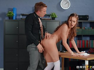 Horny sponger abyss fucks his date colleague after the program