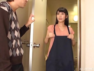 Passionate fucking in every direction over the domicile with a cock hungry Japanese model