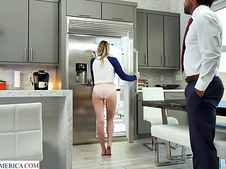 Stepdaughter badinage her stepdad and she clearly wants his dick inside of her