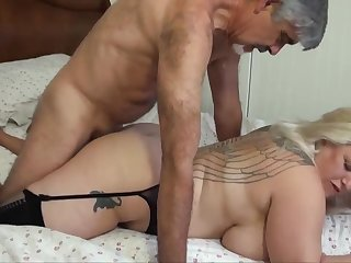 Blondie bbw on every side humungous funbags is yelling from delectation while getting plumbed, from the all round